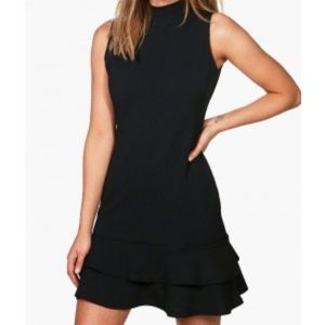 NWT Boohoo Kiki Sleeveless Ruffle Hem Dress